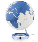 Light&Colour LCblue Design-Leuchtglobus Atmosphere Light and Colour white / blue base 30cm Globus modern Globe Earth
